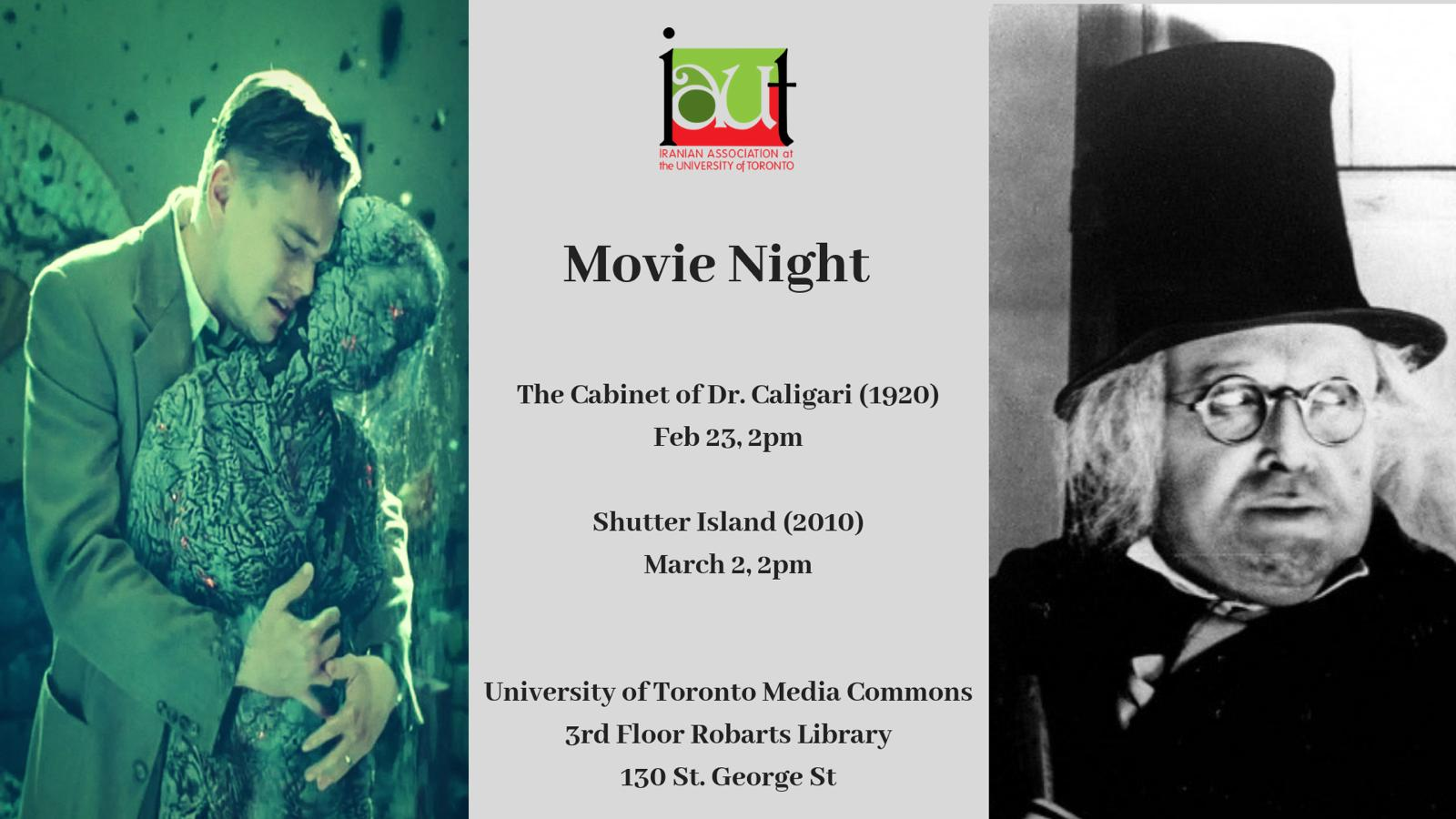 IAUT Movie Night: The Cabinet of Dr. Caligari and Shutter Island