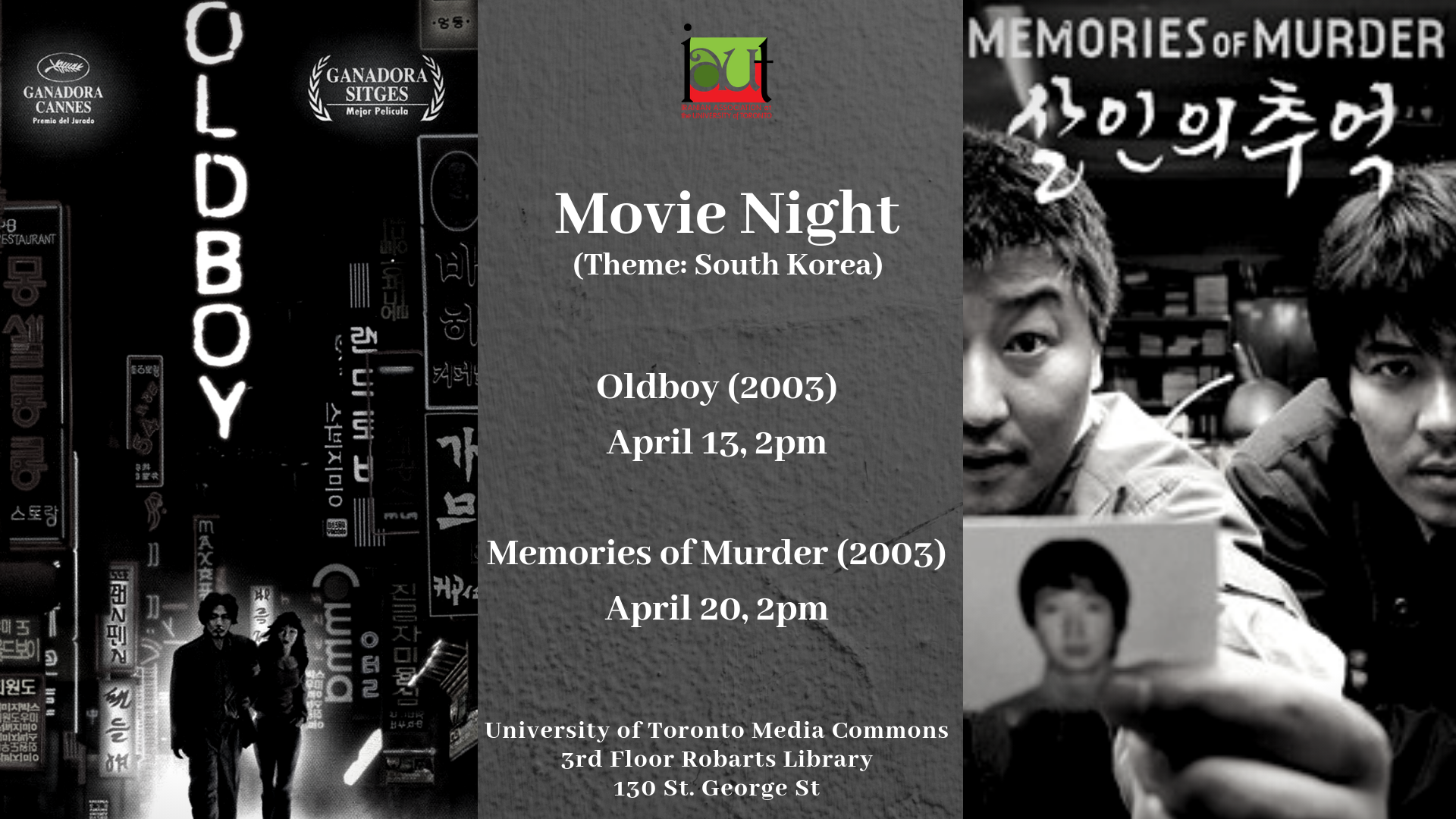 IAUT Movie Night – Theme: South Korea