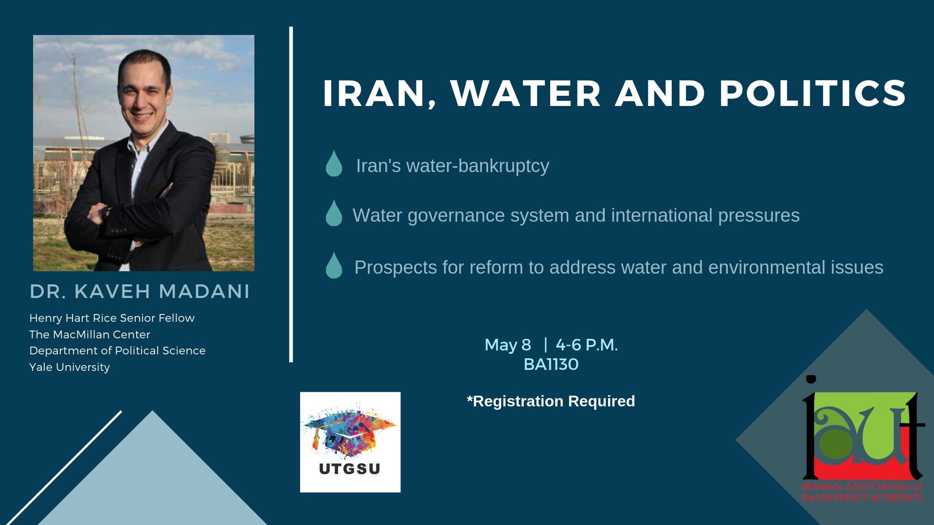 Dr. Madani's Lecture: Iran, Water and Politics